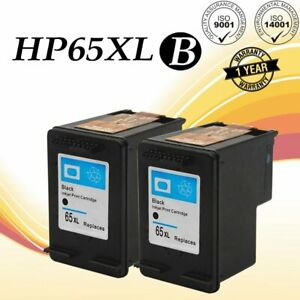 2 Pack 65XL 65 XL Black Ink Cartridges for HP Deskjet 2652 ...