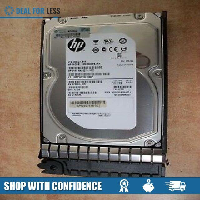 """HP 507613-002 2TB SAS 7.2K 6GB 3.5/"""" HDD"""