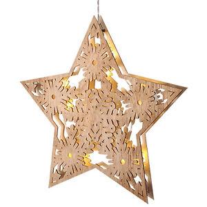Weihnachtsdeko Led Stern.Details Zu Holzstern Leuchtstern Weihnachtsstern Led Stern 33cm Weihnachtsdeko Beleuchtet