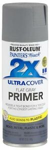 Details about Rust-oleum Flat Gray - Ultra Cover 2x Primer Spray Paint ...
