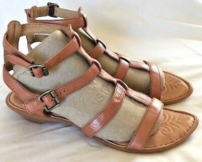 Born Bragg Gladiator Sandal Pearl Brown Strappy Slingback Low Heel Women 9 40.5 | eBay
