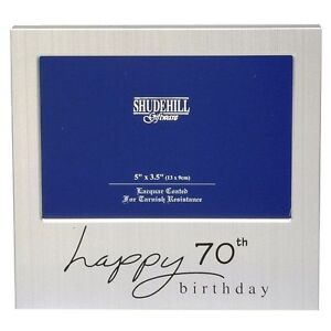 Image Is Loading Happy 70th Birthday Gift Present Photo Frame For