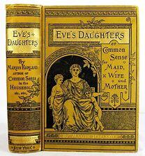 1882 ANTIQUE VICTORIAN ETIQUETTE BOOK HOME MARRIAGE SEX HOUSEKEEPING WOMEN DRESS