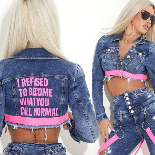 By Alina MEXTON Damenjacke Jeans Jeansjacke Übergangsjacke 34-38 #C869