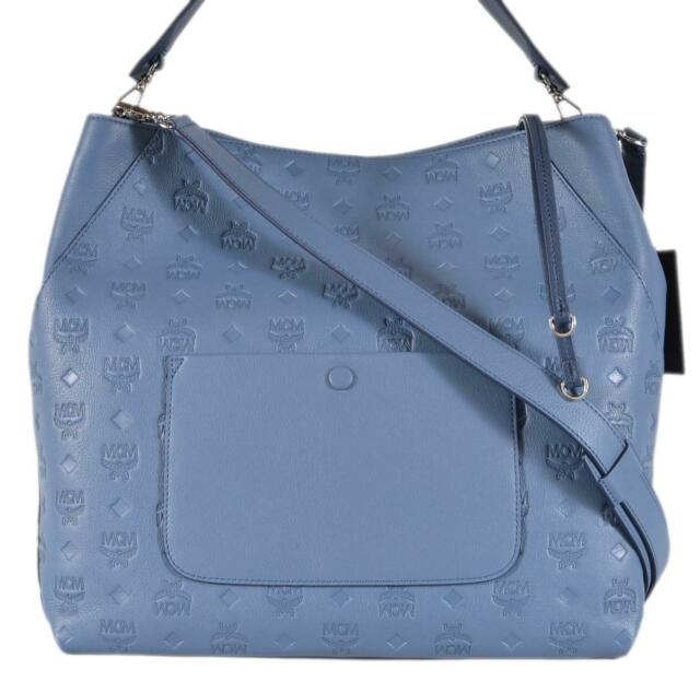 230d43583fb5 Auth MCM Klara Monogram Logo Top Zip Large Leather Hobo Bag for sale ...