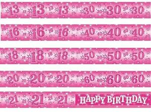 image is loading 2 6m qualatex pink sparkle foil birthday banners