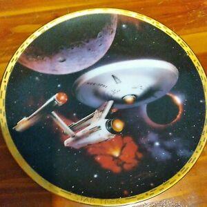 Star Trek The Voyagers USS Enterprise NCC-1701 Hamilton Collectors Plate 1993