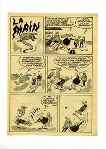 BD-ancienne-planche-de-bande-dessinee-des-annees-70-La-main