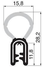 Meterware Gummiprofil Dichtungsprofil Gummidichtung Türdichtung Kantenschutz