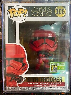 Star Wars Funko Pop 306 Red Sith Trooper Vinyl Bobble Head Sdcc Le Ebay