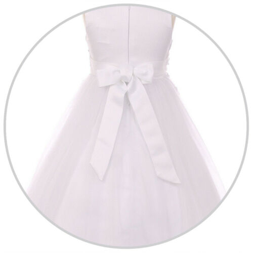 CHAMPAGNE Flower Girl Dress Graduation Prom Bridesmaid Recital Formal Birthday