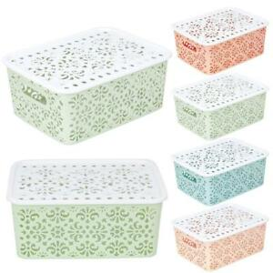 Plastic-Storage-Basket-Box-Bin-Container-Organizer-Clothes-Laundry-Home-Holders