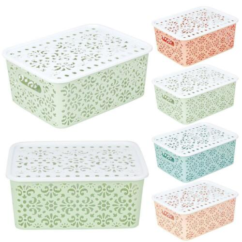 Plastic Storage Basket Box Bin Container Organizer Clothes Laundry Home-Holders