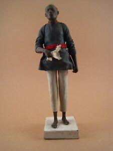Statue-Santon-Sculpture-Sujet-Terre-Cuite-Polychrome-ECOLE-ORIENTALISTE-fin-XIX