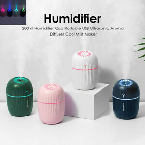 Details about 200ml Air Humidifier Purifier Cup USB Ultrasonic Aroma Diffuser Cool Mist Maker