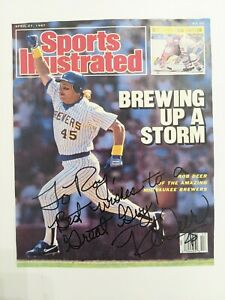 Rob Deer Brewers Hand Signed Autographed Copy of Front Sports Illustrated Cover
