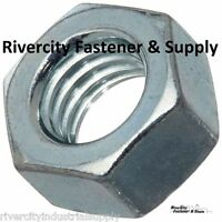 (50) M6-1.0 Or 6mm Metric Hex Nuts Class 10 Zinc Plated Din 934