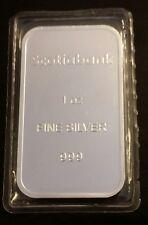 1 OZ .999 Silver Scotiabank Bar SEALED