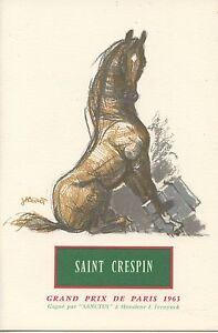 Menu / Illustrateur Jacquot / Grand Prix De Paris 1963 / Cheval / Saint Crespin 3qbzrvuy-07232526-237712293