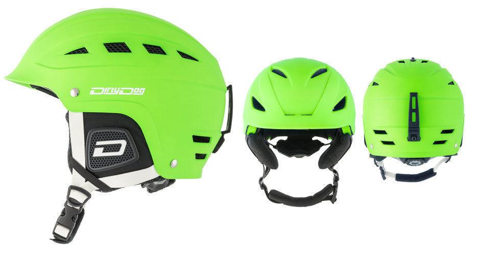 Dirty Dog UFO Helmet Adults Skiing Snowboarding Unisex Bright Green Extra Large