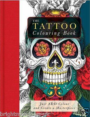 Tattoo Cats Cartoon Girls Steampunk 4 X Adult Colouring Books