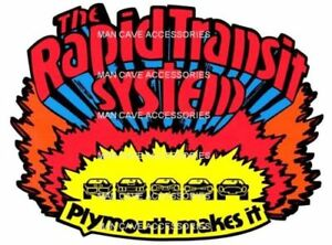 Plymouth RAPID TRANSIT SYSTEM Vinyl Decal Sticker 4137
