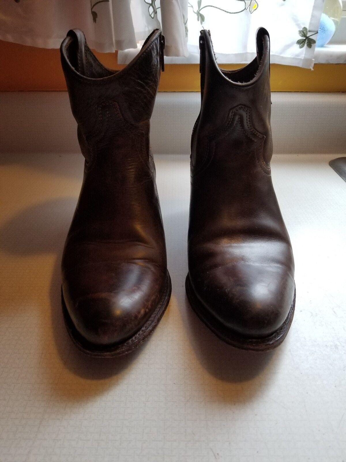 Frye para mujer Deborah corto Casual Marrón Tirar-en la moda tobillo botas 9.5M