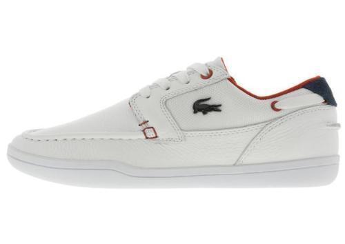 Lacoste 7-34CAM0029286 Deck Minimal 317 Cam White Red LeatherTextile Men's shoes