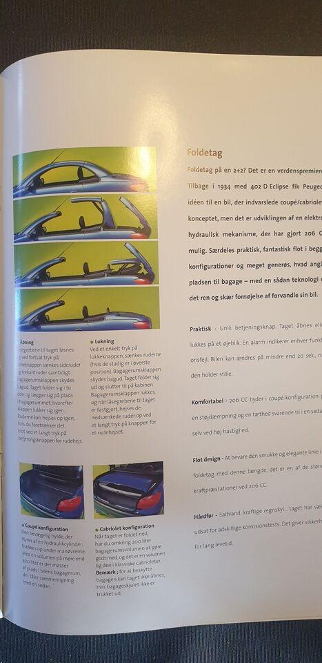 Brochure, Peugeot 206 cc
