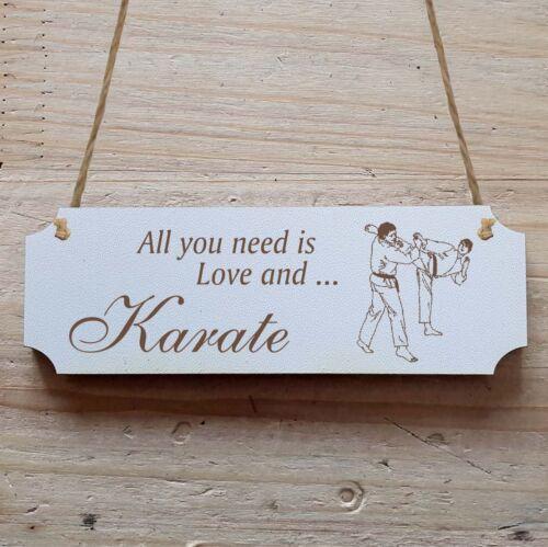 Türschild Dekoschild « Karate »