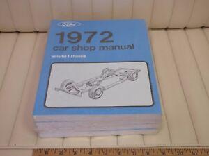 1972-Ford-Mustang-Cougar-Lincoln-T-Bird-5-Volume-Car-Shop-Manual-Set-NEW-REPRO