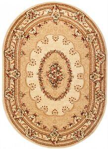 Yesem Tappeto Ovale floreale classico tipo persiano orientale 5889 Cream