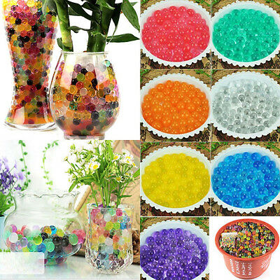 8 Bags Water Aqua Absorbing Crystal Beads Gel Soil Ball Wedding Decoration Pearl