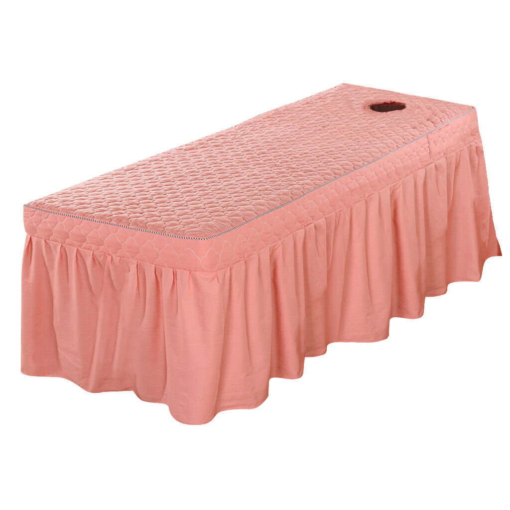MagiDeal 73X27 Cotton Spa Massage Table Skirt Bed Valance Sheet Cover Russet