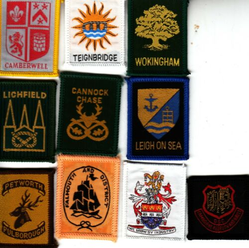 Boy Scout DISTRICT Badges x 10 inc Ext CAMBERWELL