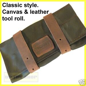 Venhill-Motorbike-waxed-canvas-leather-tool-roll-Classic-Vintage-motorcycle-VT15