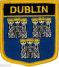 "Dublin (Ireland) Embroidered Patch 6CM X 7CM (2 1/2"" X 2 3/4"")"