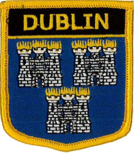 "Ireland Dublin 2 1//2/"" X 2 3//4/"" Embroidered Patch 6CM X 7CM"