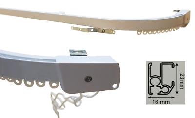 Radient Binario Professionale Tenda Bastone Scorritenda Alluminio Profilo Curvo, Curvato Ottima Qualità