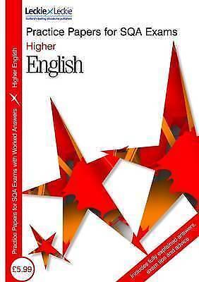 "1 of 1 - ""VERY GOOD"" PRACTICE PAPER H ENGLISH (Sqa Practice Papers), David Cockburn, Book"