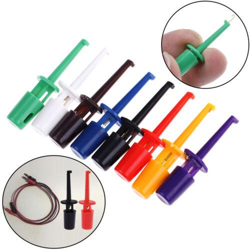 12xUseful multimeter lead wire test probe hook clip set grabbers connector tool#