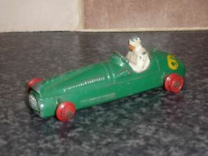 DINKY-TOYS-No-233-COOPER-BRISTOL-No-6-RACING-CAR-GREEN-BODY-amp-WHITE-DRIVER