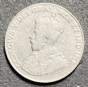 1926-Canada-5-Cents-George-V-Nickel-Near-6-Variety-1353