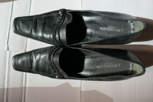 Black Leather Pilgrim Witch Shoes Size 10