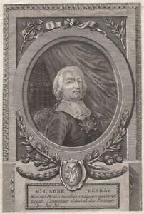 Portrait-Abbe-Terray-Controleur-des-finances-gravure-originale-XVIIIeme