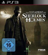 Sony PS3 Playstation 3 Spiel ***** Das Testament des Sherlock Holmes ****NEU*NEW