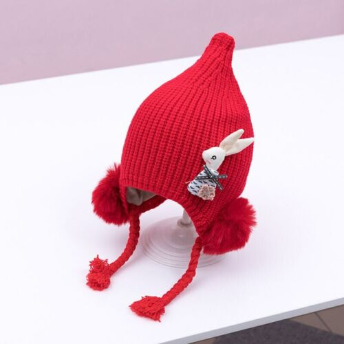 Winter Autumn Warm Knitted Baby Hat Pompom Bunny Ear Infant Bonnet Kids Beanie