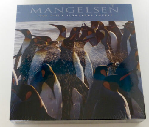 """Penguin Jigsaw Puzzle /""""MORNING SHOWER/"""" 1000-Piece by Thomas Mangelsen BRAND NEW"""