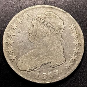 1817 Capped Bust Half Dollar 50c O-111a Variety Collectible Type Coin