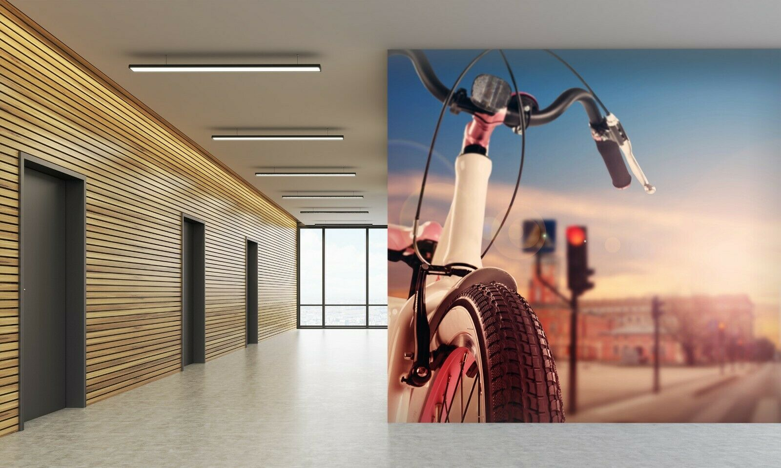 3D Bicycle I04 Transport WandPapier Mural Sefl-adhesive Removable Angelia